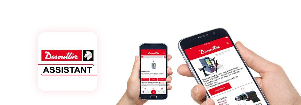 데소터 어시스턴스 앱을 다운로드 해서 당사의 최신 조립 및 드릴링 제품과 데소터에서 제공하는 모든 서비스를 쉽게 만나보세요.