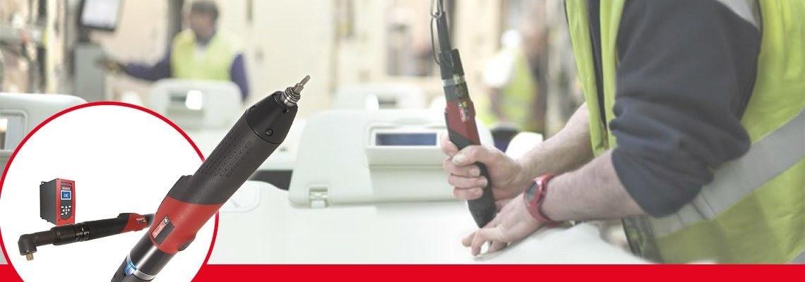 자동차 및 항공 산업 공정을 위한 데소터의 ERS 제품군, 전동 스크류 드라이버를 확인하세요.