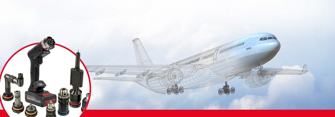 데소터의 항공우주 산업용 충전식 드릴 공구 제품군