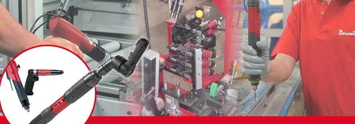 자동차 및 항공 산업 공정에서 활용되는 공압 체결 공구의 전문기업, 데소터에서 개발한 토크제어가능 셧 오프 스크류드라이버를 확인하세요