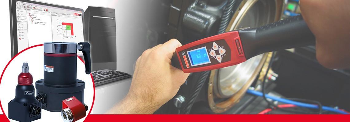 비 임팩 제조 공구의 토크값 결과를 측정하는 데소터의 회전 토크 트렌듀서 제품군을 확인하세요.